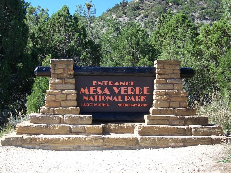 Mesa Verde National Park entrance sign