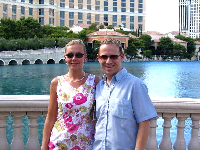 There we are enjoying the beautiful heat and sunshine at the Ballagio before we have to head back to the airport to make our way home.<br /> <br /> We certainly loved our time in Vegas though and no doubt we'll be back again someday to this fun, fun city!! :-)