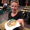 "There's Nancy trying some of the ""King Cake"" that we talk about in our blog."