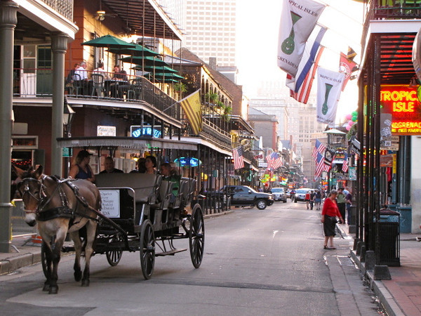 "There's a look at a portion of ""Bourbon Street""... as you can see you can take a horse carriage ride down there during the day and if you like to party head there at night (or anytime for that matter :-)) as there are more bars there then you can shake a stick at!"