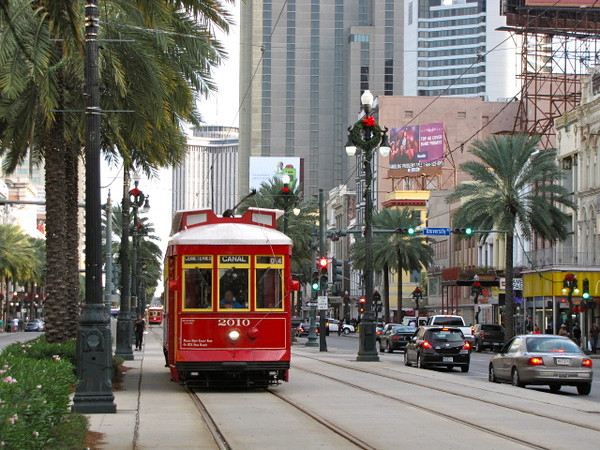 A familiar site in New Orleans is their old-style street cars... another part of what adds to this famous city's charm!