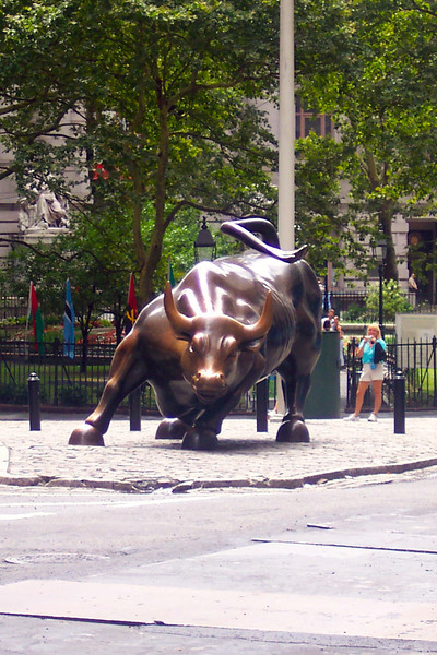 "And there's the ""Wall Street Charging Bull""... make sure to give it a little rub for good luck when there. :-)"