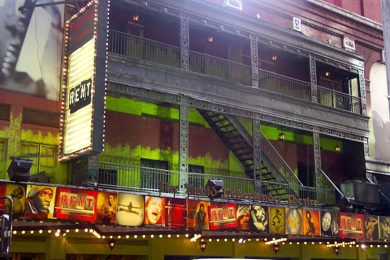 """While in New York we saw a musical each night... our first of the three we saw was """"Rent"""". The music in Rent was awesome and it was a great show!!"""