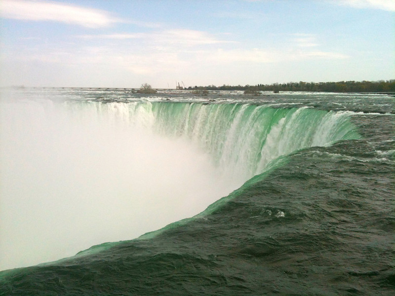 The Power of the water rushing over the falls is incredible... you have to stand next to it & see it with your own eyes to really get the feel.