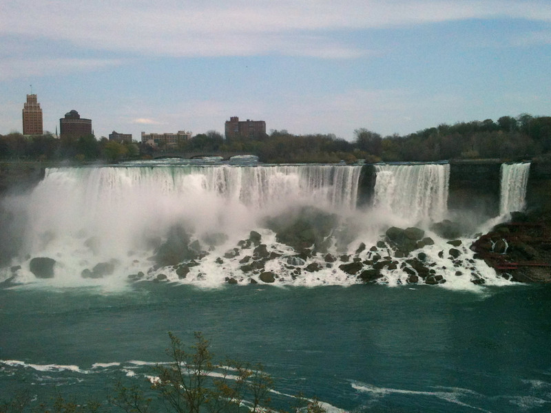There's the American side of Niagara Falls... pretty awesome site!