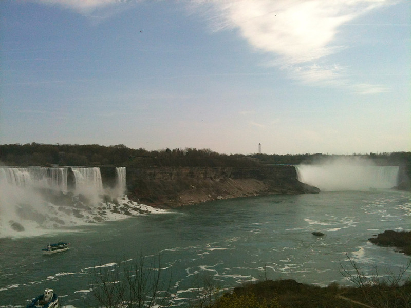 If you've never been to Niagara this shot gives you a perspective of how close the American & Canadian Falls are to each other... both within walking distance so you'll get to see them both... but you have to be on the Canada side of the border to see it from this angle.