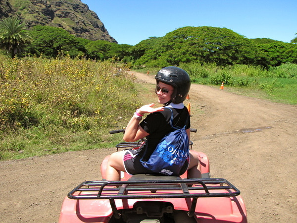 After enjoying the Jungle Tour and the Ocean Voyage in the morning, and then a hearty lunch including the Ranch's specialty BBQ ribs, we started the afternoon off with an ATV ride... fun! :-)