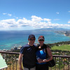 Here we are at the very top of Diamond Head overlooking beautiful Waikiki beach... what an awesome hike with a very rewarding payoff! :-)