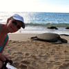 And the Sea Turtles in the North Shore were pretty amazing too... looks like Nancy made a new friend...