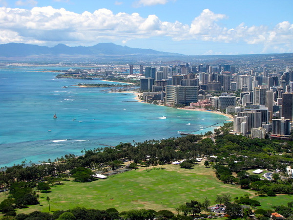 """There's a look at Waikiki Beach from Diamond Head... Beautiful!! Check out our Video of our hike by clicking below: <a href=""""http://nancyandshawnpower.com/a-video-of-our-experience-hiking-diamond-head-crater/"""">http://nancyandshawnpower.com/a-video-of-our-experience-hiking-diamond-head-crater/</a>"""