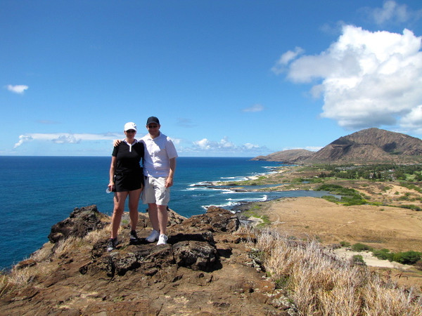 Hiking a beautiful trail in Hawaii on a Monday morning... life is definitely treating us well right now! :-)