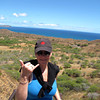 Looks like Nancy is having fun hiking Diamond Head. :-)