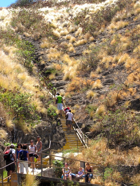 There's one of a few steep spots along the hike... you'll definitely get a great workout hiking up here!