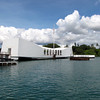 "Here's a look at the ""USS Arizona"" Memorial which is the main attraction at Pearl Harbor... 1,177 men lost their lives on the Arizona that day"