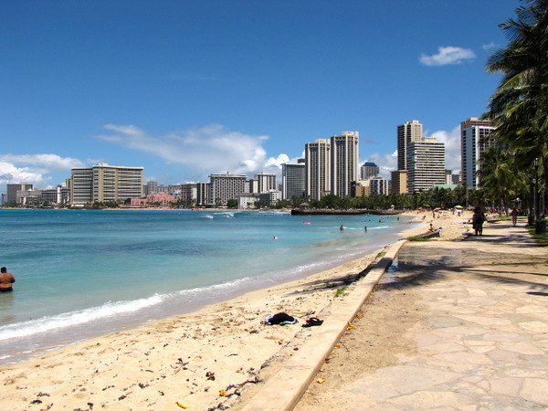 There's Waikiki Beach & her skyline... stunning isn't she! :-)
