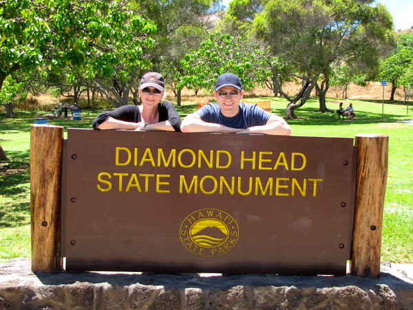 "There we are getting ready to hike Diamond Head... and we had a great day for it! You can see our Video of our experience here: <a href=""http://nancyandshawnpower.com/a-video-of-our-experience-hiking-diamond-head-crater/"">http://nancyandshawnpower.com/a-video-of-our-experience-hiking-diamond-head-crater/</a>"