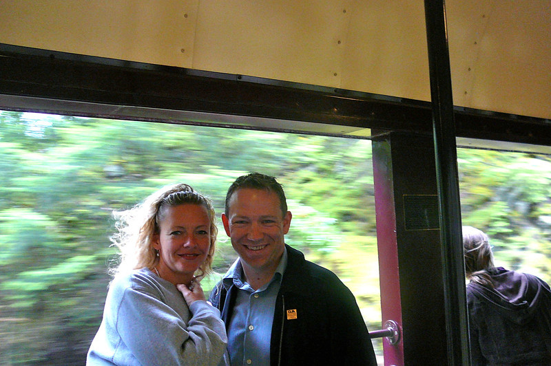 "That couple looks pretty Happy to be enjoying the World Class ""Rocky Mountaineer"" train ride to Whistler on this Beautiful Sunday morning. :-)"