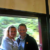 """That couple looks pretty Happy to be enjoying the World Class """"Rocky Mountaineer"""" train ride to Whistler on this Beautiful Sunday morning. :-)"""