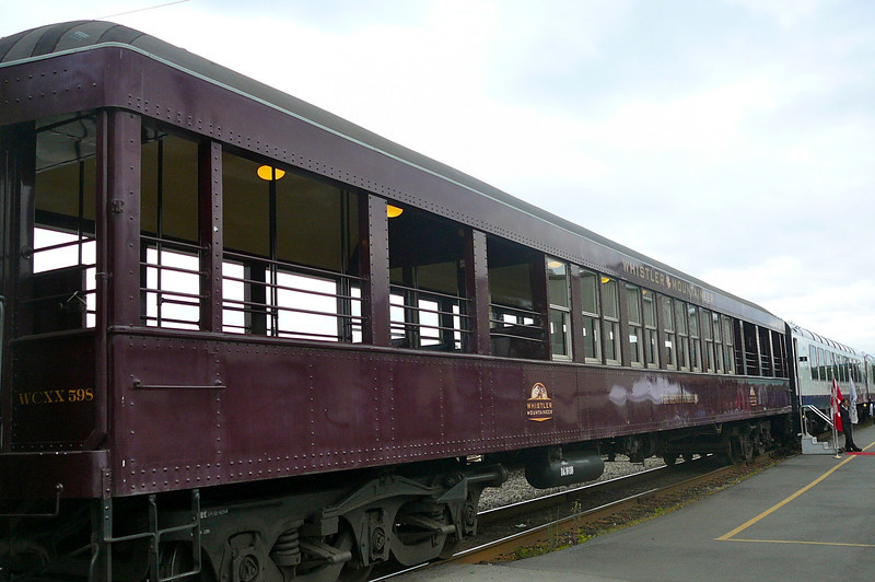 "Here's the ""Heritage Observation Car"" that runs between the ""Whistler Service"" & ""Whistler Dome Service"" cars... a great place to enjoy the fresh Mountain air and to check out the amazing views!!"