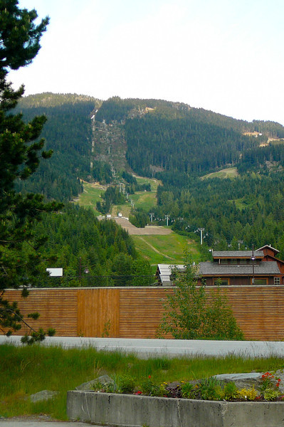 "There's one last glimpse of the ""Creekside"" side of ""Whistler Mountain"" before we head back to Vancouver."