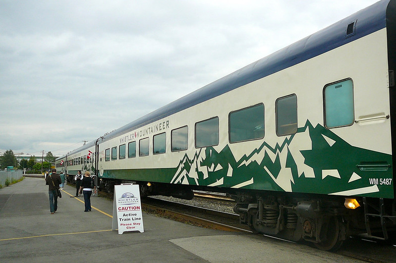 "Here's one of the ""Whistler Service"" cars. These cars were very comfortable with great service & nice food!! Main difference is they have less viewing with just the picture windows to see out of."