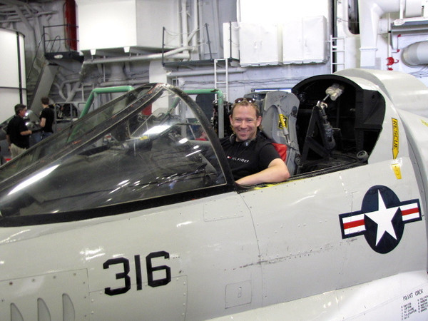 There's Shawn getting a close-up look at one of the fighter jets! :-)