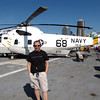 There's Shawn checking out one of the Navy's helicopters... looks like he's enjoy the USS Midway on this sunny San Diego day!