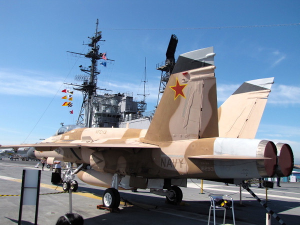 """The """"Flight Deck"""" of the carrier can fit a lot of jets like this on it, it's pretty incredible... 3 football fields long!"""