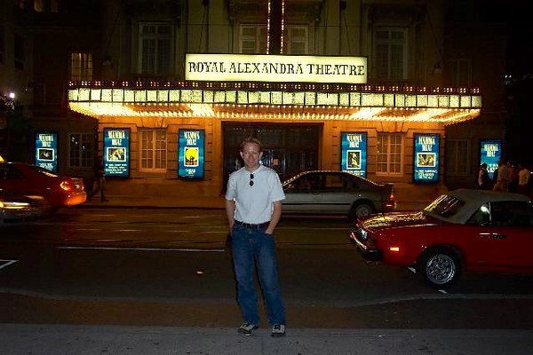 """Looks like Shawn is excited for tomorrow night's showing of the Musical """"Mamma Mia"""" that we're going to see at the Royal Alexandra Theatre. :-)"""