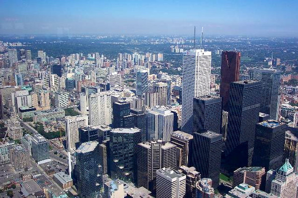 """And there's the skyline of Toronto from the """"CN Tower""""... very nice! :-)"""