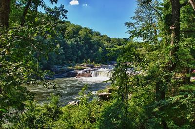 Ohiopyle Falls in Ohiopyle State Park. Ohiopyle, Pennsylvania.