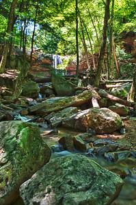 Cucumber Falls in Ohiopyle State Park. Ohiopyle, Pennsylvania.