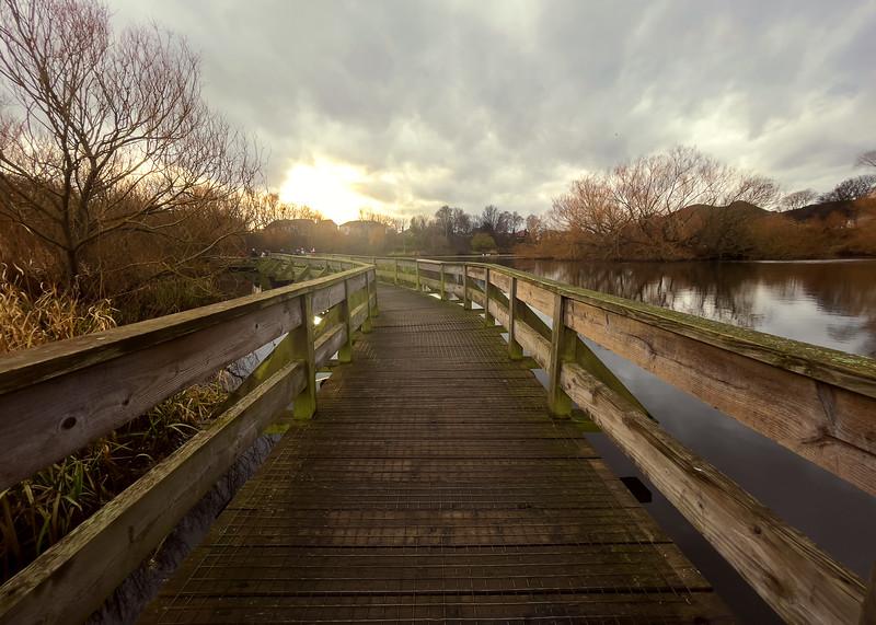 The Figgate Pond Boardwalk (iPhone 12 Pro)
