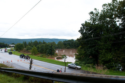 View of Route 87 southbound as it meets I-180 in Montoursville. Picture taken from Radio Club Road. Mill Creek/Loyalsock Creek in the background.