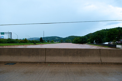 The Lycoming Creek as seen from the Memorial Avenue Bridge in Williamsport.