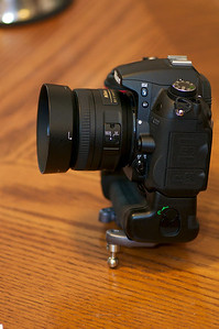 D7000 with grip, 35mm f/1.8G and Spider Pro Plate