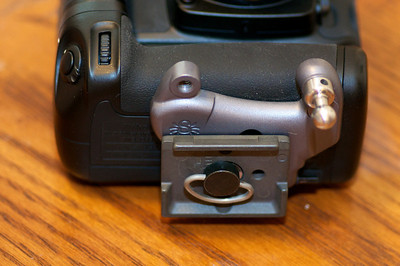 Spider Pro Plate on D7000 Grip with Manfrotto plate attached.