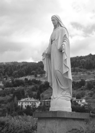 Mary watching over the town of Regello in Tuscany