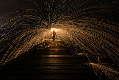 Latest: Steel Wool Spinning at Newark Castle