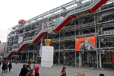Centre Pompidou was a great structure and the next several frames are examples of what was inside.