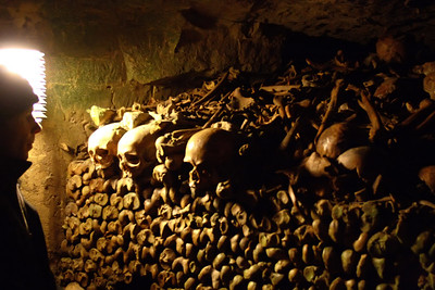 The Paris Catacombs. A very humbling place to visit!