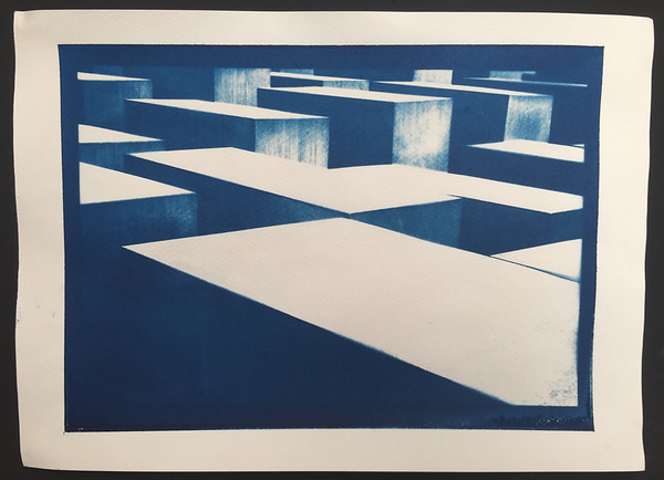 Cyanotype based on negative contact print. 40x30cm