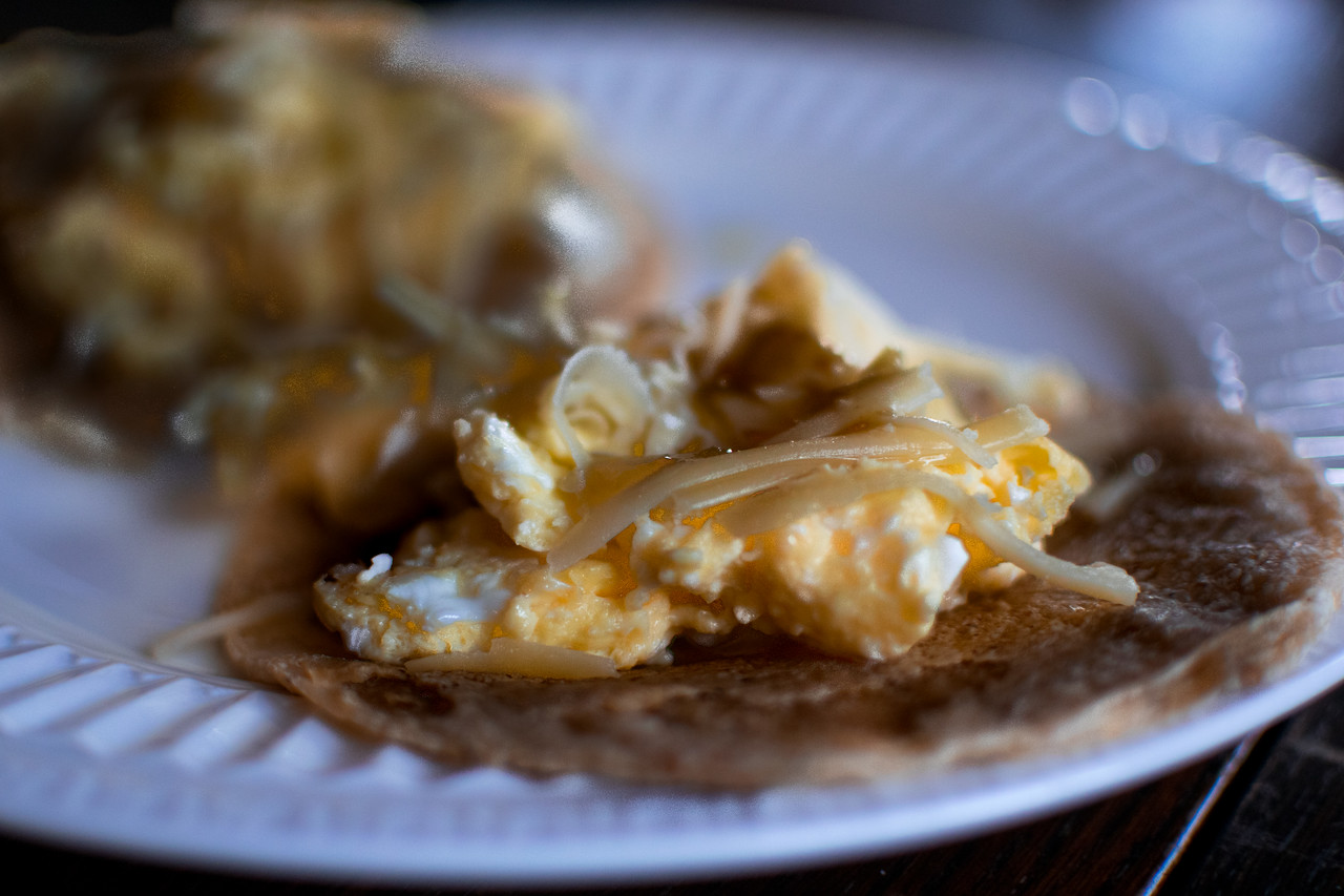 Breakfast tacos on Christmas 2016