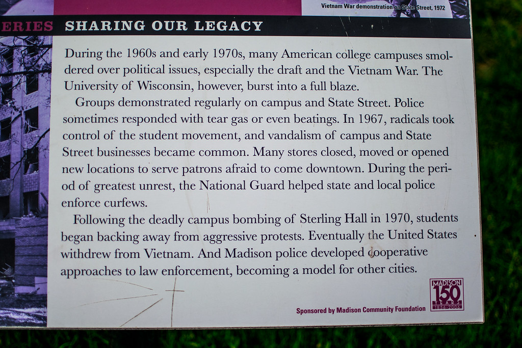 Historical sign at Lisa Link Peace Park
