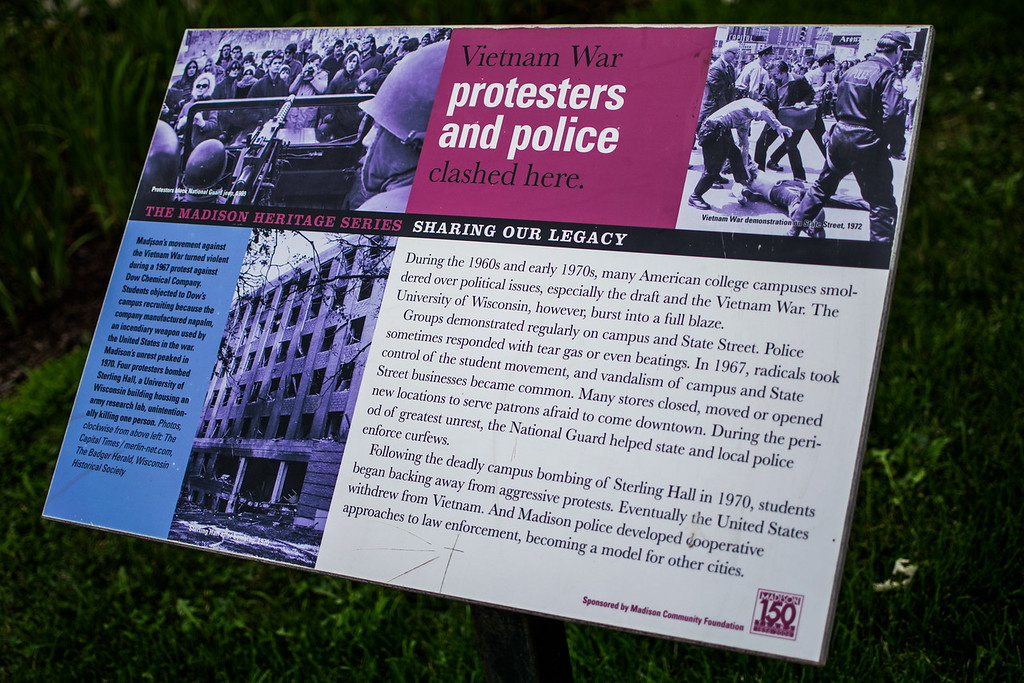 """Vietnam War protesters and police clashed here."""