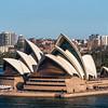 view of Sydney Opera House from Sydney Harbor Bridge Tower