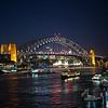 night view Sydney Harbor