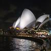 night view walk to Sydney Opera House