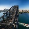 bridge from Sydney Harbor Bridge tower