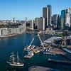 Circular Quay seen from Sydney Harbor Bridge tower